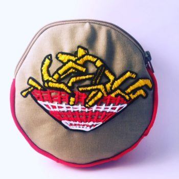 French Fries Embroidered on a hoop